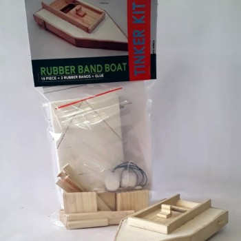 Rubber band boat by Tinker Toys