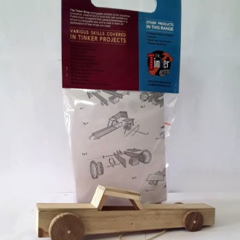 Rubber band car by Tinker Toys